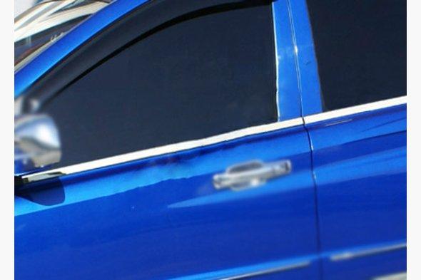 Молдинги на боковые окна PickUp (4 шт, нерж)