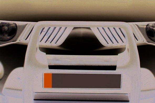 Накладки на решетку радиатора (14 шт, нерж) OmsaLine - Итальянская нержавейка