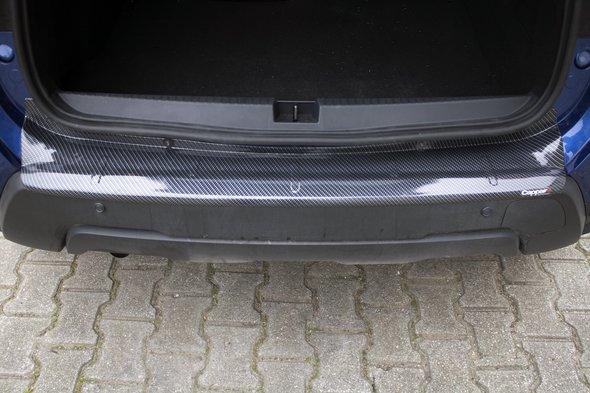 Накладка на задний бампер EuroCap (ABS, под карбон)