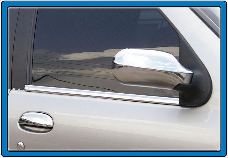 Наружняя окантовка стекол (4 шт, нерж.)