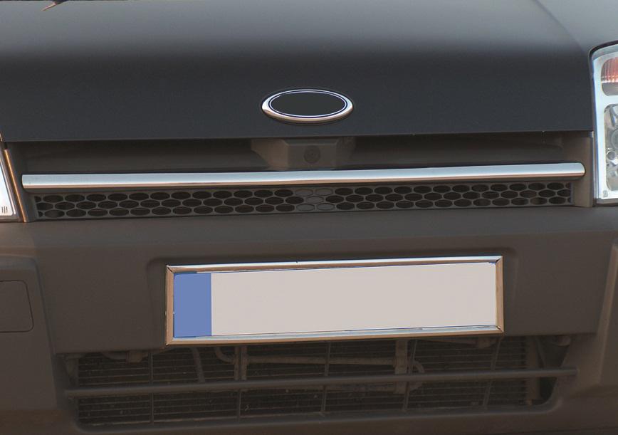 Накладки на решетку радиатора (1 шт, нерж.) OmsaLine - Итальянская нержавейка