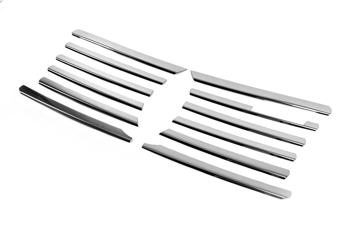 Накладки на решетку радиатора (1995-2000, 12 частей, нерж)