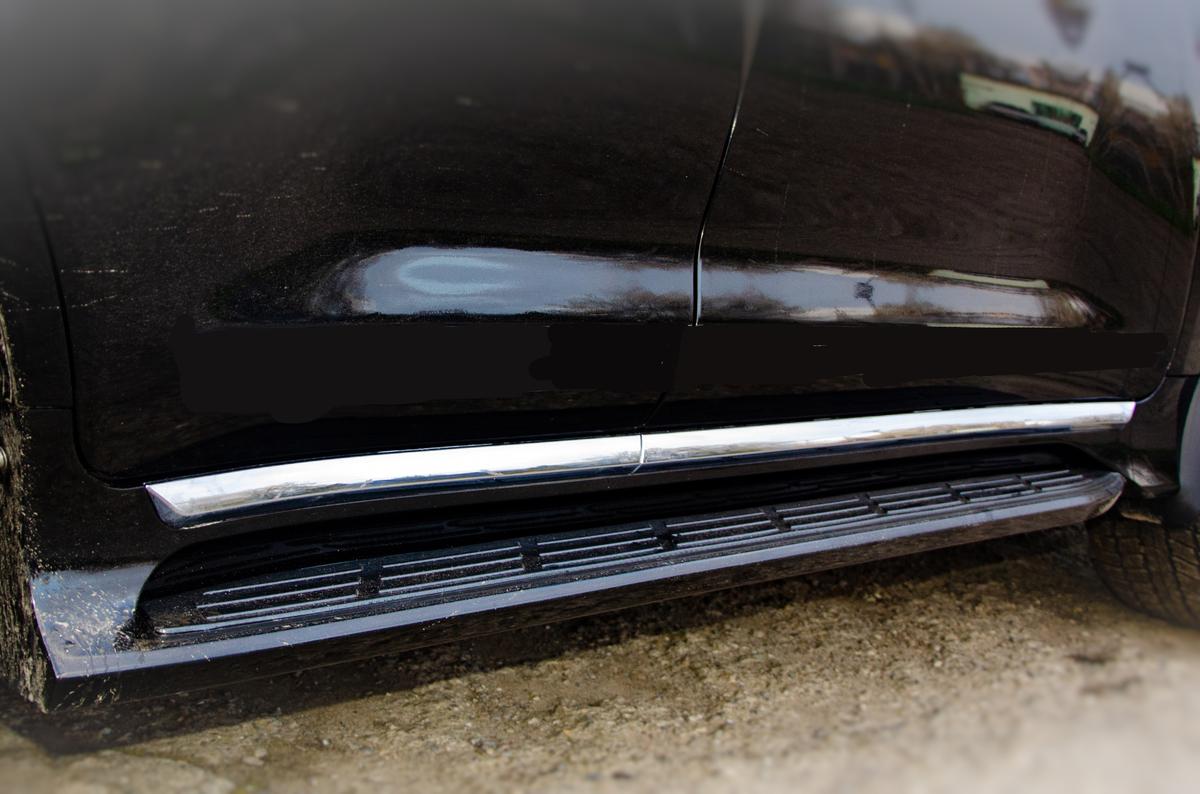 Боковые подножки Exlusive (дизайн 2021) Черный цвет