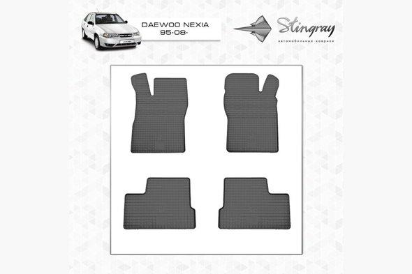 Резиновые коврики (4 шт, Stingray) Budget - с запахом резины (выветрится)