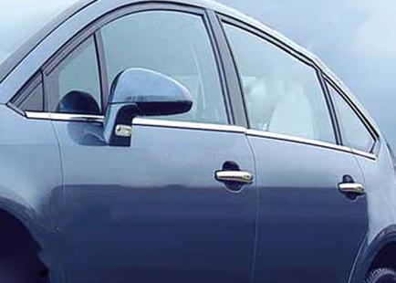 Наружняя окантовка стекол (нерж.) Hatchback, OmsaLine - Итальянская нержавейка