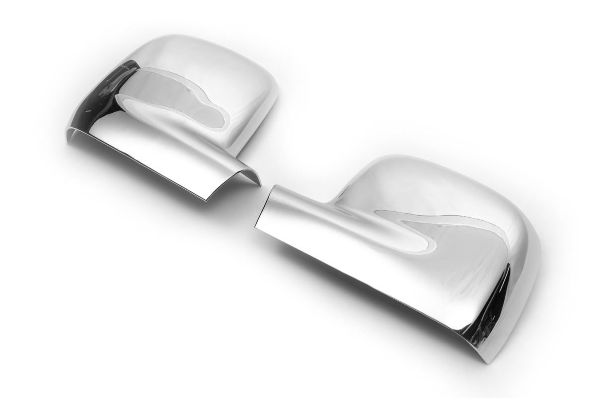 Накладки на зеркала (2 шт) Carmos - Полированная нержавейка