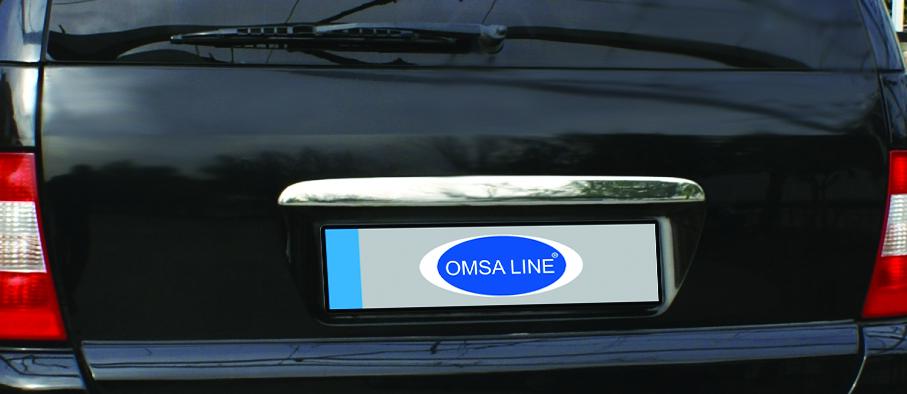 Накладка над номером (нерж) OmsaLine - Итальянская нержавейка