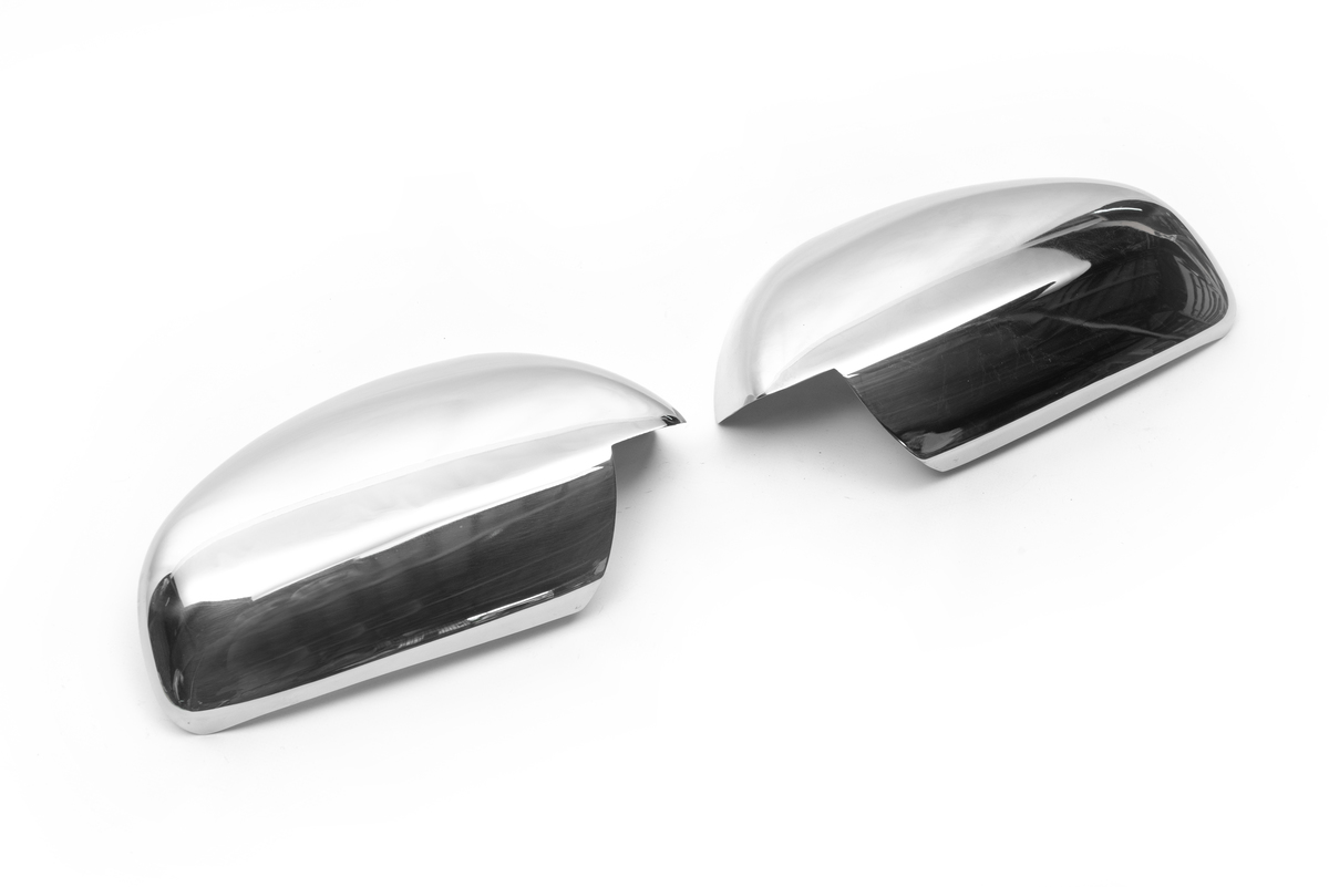 Накладки на зеркала (2 шт, нерж) OmsaLine - Итальянская нержавейка