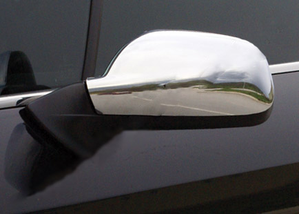 Накладки на зеркала (2 шт) OmsaLine - Хромированный пластик