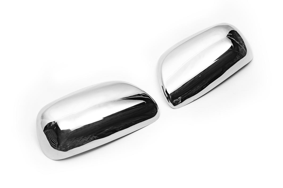 Накладки на зеркала (2 шт) Carmos - Турецкая сталь