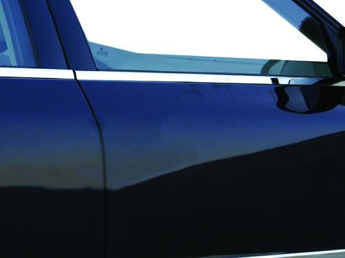 Наружняя окантовка стекол (4 шт, нерж) OmsaLine - Итальянская нержавейка