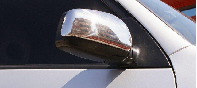 Накладка на зеркала (2 шт., нерж.) Carmos - Турецкая сталь