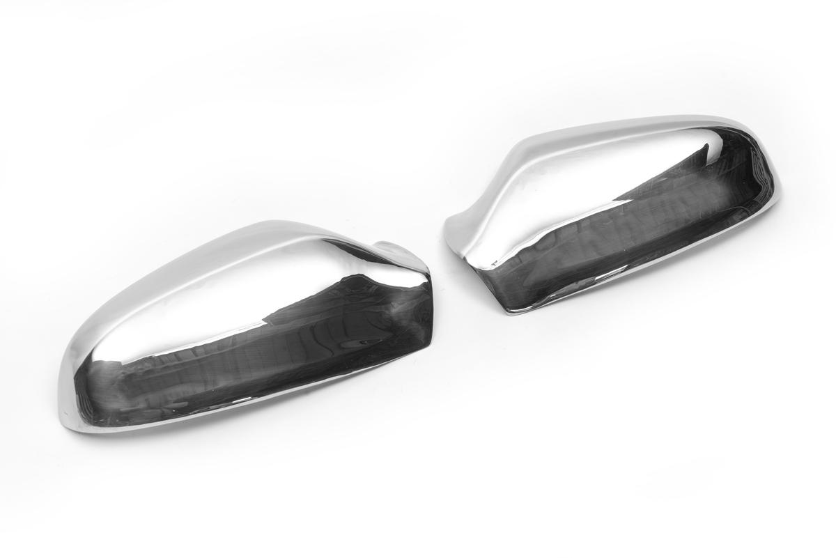 Накладки на зеркала (2 шт) Полированная нержавейка