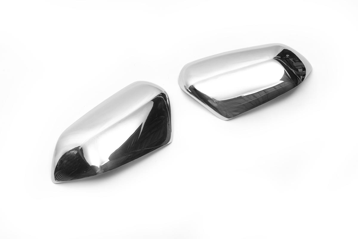 Накладки на зеркала (2 шт, нерж) Carmos - Турецкая сталь