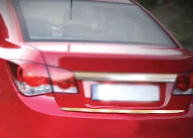 Накладка на кромку багажника (нерж.) Sedan, OmsaLine - Итальянская нержавейка