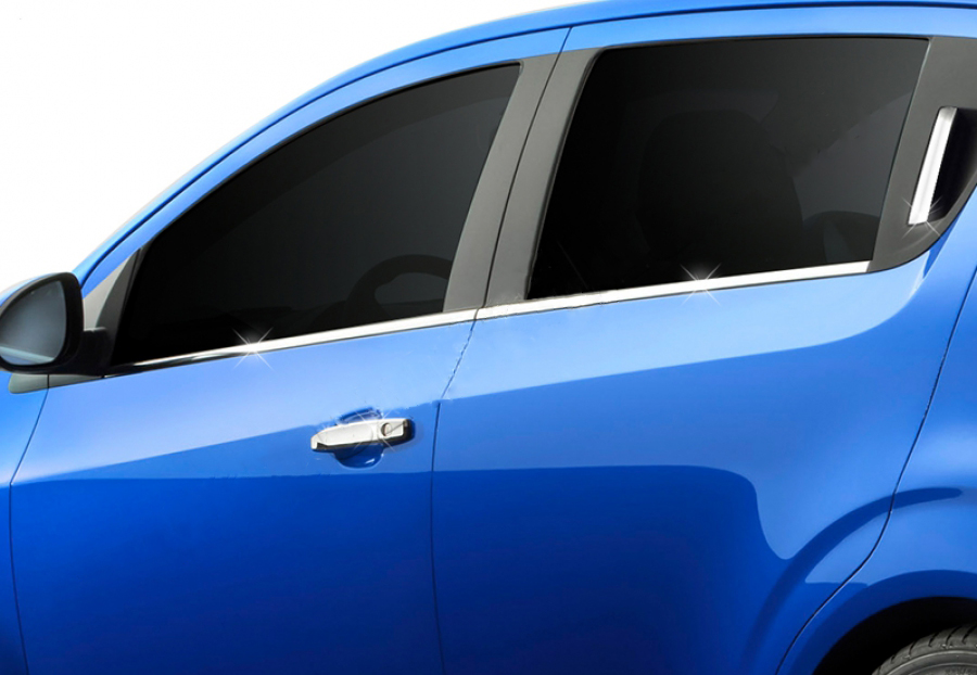 Нижние молдинги стекол (нерж) Hatchback, OmsaLine - Итальянская нержавейка