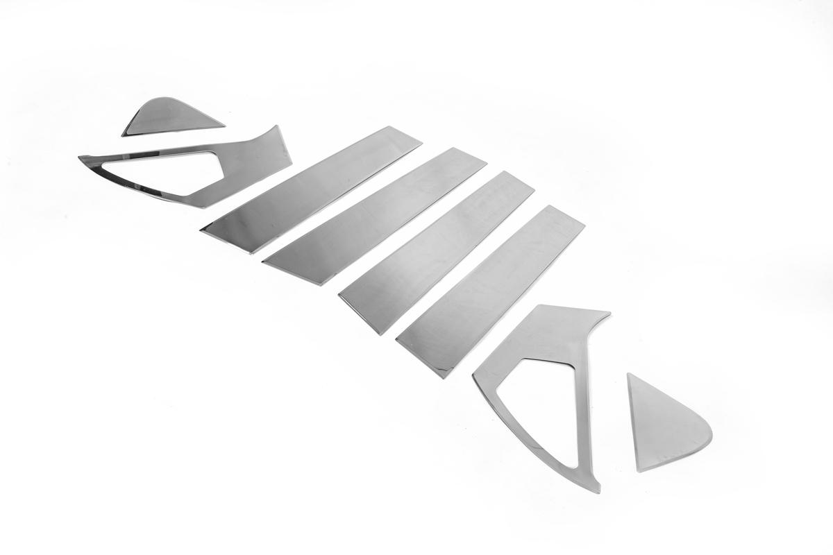Молдинг дверных стоек (8 шт, нерж)