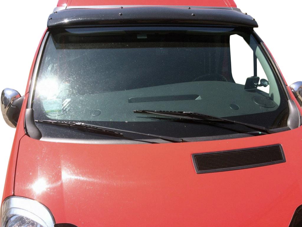 Козырек на лобовое стекло (черный глянец, 5мм)