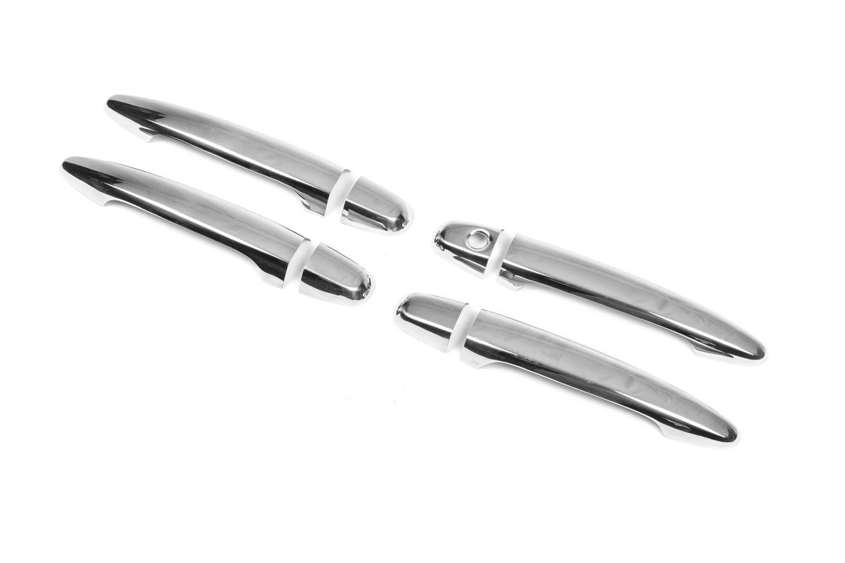 Накладки на ручки (4 шт) Хромированный пластик