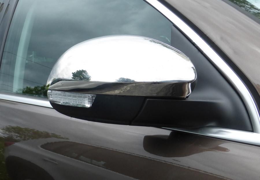 Накладка на зеркала (2 шт, нерж.) Carmos - Турецкая сталь