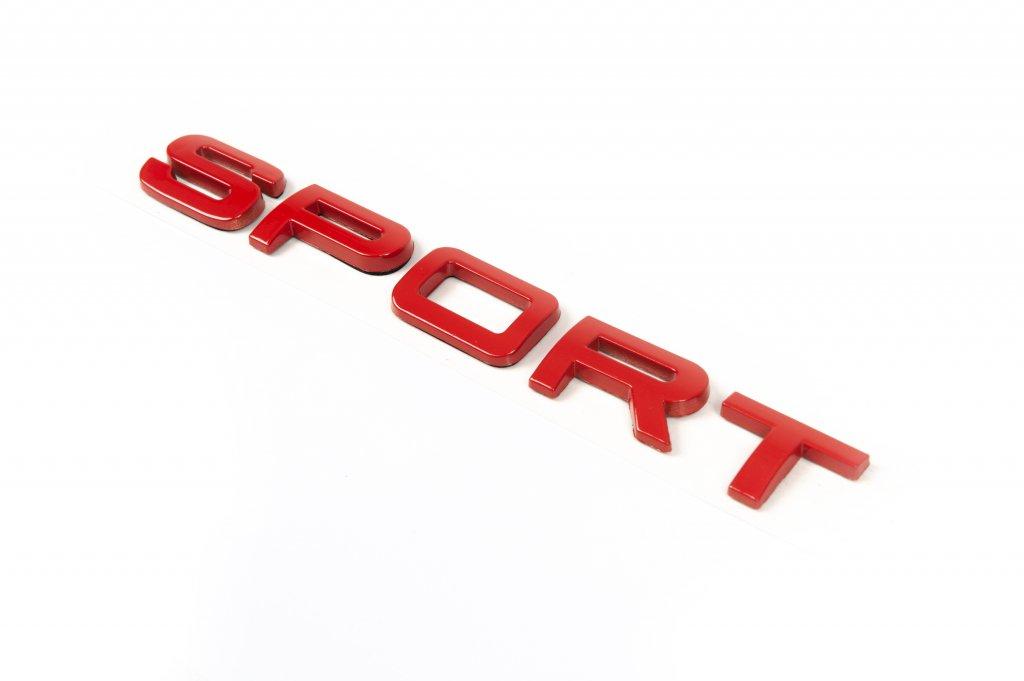 Надпись Sport (красная)
