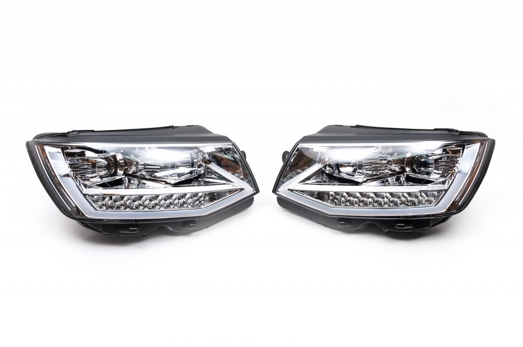 Передняя оптика LED Silver (2 шт)