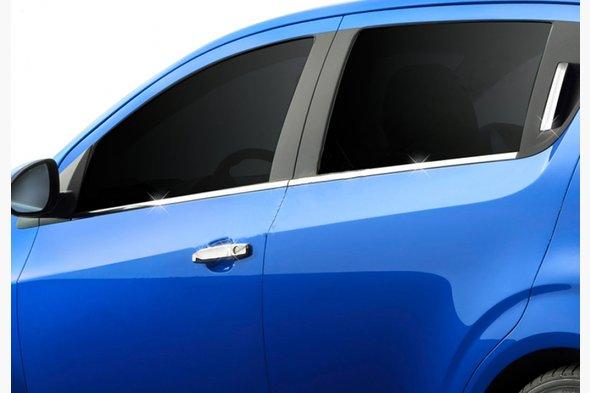 Нижние молдинги стекол (нерж) Sedan, OmsaLine - Итальянская нержавейка