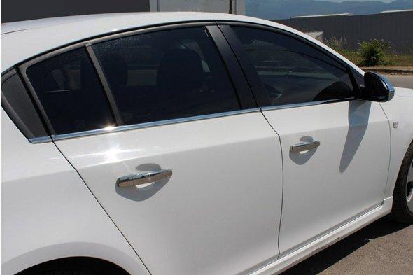 Молдинги стекол (нерж) Sedan, OmsaLine - Итальянская нержавейка